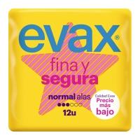 Pack de 12 compresas EVAX FINA Y SEGURA con alas