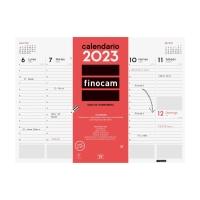 Vade calendario de sobremesa de 53 páginas. Dimensiones 420 x 310 mm