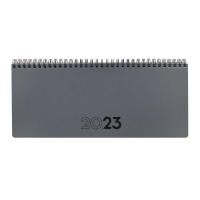 Planificador de sobremesa semana vista horizontal de 209 x 116 mm. Color gris