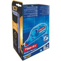 Pack de 10 TIPPEX Pocket + Pack de 8 BIC Cristal azul