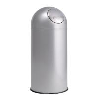 Contenedor cilíndrico con apertura push 33x88x33 cm color gris PLANNING SISPLAMO