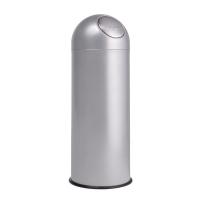 Contenedor cilíndrico con apertura push 40x94x40 cm color gris PLANNING SISPLAMO