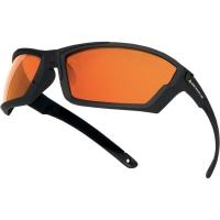 Gafas de seguridad DELTAPLUS Kilauea con lente espejada. Incluye cordón y funda