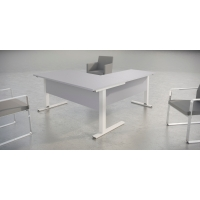 Mesa de login con medidas 160x80x75 gris aluminio