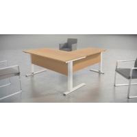 Mesa de login con medidas 160x80x75 haya aluminio