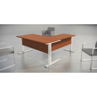 Mesa de login con medidas 140x80x75 wengue aluminio
