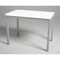 Mesa para break en medidas de 80x80 mm plata blanco
