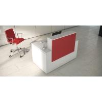 Mostrador de recepción luxe en color rojo blanco