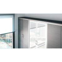 Armario puerta batiente de 4 estanterias color haya blanco 1980 x 1000 x 450 mm