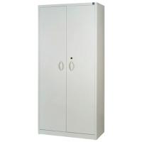 Armario con puerta batiente de metal con 3 estantes 138x100x45cm aluminio