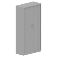Armario de puesta de persiana con 4 estantes 198x100x45cm gris aluminio