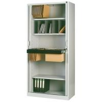 Armario de puesta de persiana con 4 estantes 198x100x45cm aluminio aluminio