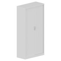 Armario de puesta de persiana con 4 estantes 198x100x45cm blanco blanco