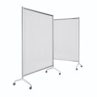 Mampara modular screen fabricada en aluminio 150x100x175 cm gris
