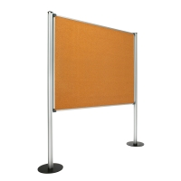 Panel de pantalla con fondo de corcho con medidas 120x150 cm