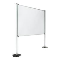 Panel de pantalla con fondo de melamina con medidas 120x150 cm gris