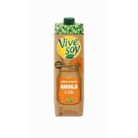 Botella de 1 litro de zumo naranja VIVESOY