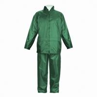 Traje de lluvia JOMIBA LTA 5053 con recubrimiento de PVC. Color verde. Talla XL