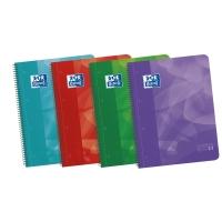 Cuaderno en espiral microperforado con bandas de color A5+