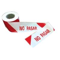 Cinta de señalización   No Pasar   JULIO GARCIA. Colores rojo y blanco
