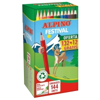 Pack De 144 Lápices Colores Alpino Festival