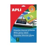 Caja de 10 etiquetas APLI 2926 calidad fotográfica cantos romos 199,6x289,1 mm