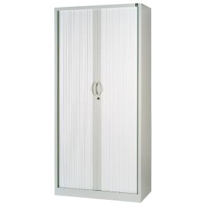 Armario metálico de persiana con3 estantes 1380x1000x450cm aluminio/aluminio