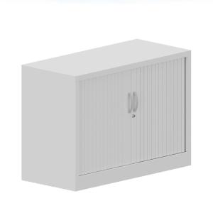 Armario metálico de persiana con2 estantes 710X1000X450cm blanco/blanco