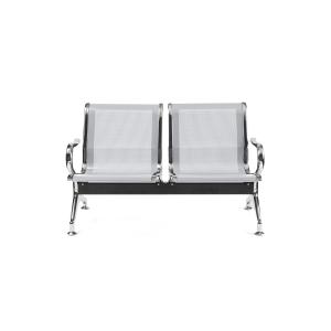 Bancada metálica  brazos LYRECO 2 asientos color gris Dim: 1220x800x750 mm