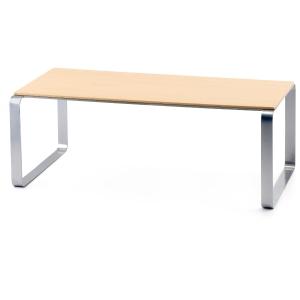 Mesa de sala de espera LYRECO de madera Dim: 1200x600x430 mm