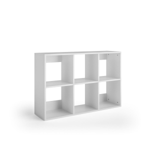 Librería Lyreco 6 casillas con medidas 86x40x128 blanco