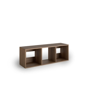 Librería Lyreco 3 casillas con medidas 44x40x128 nogal