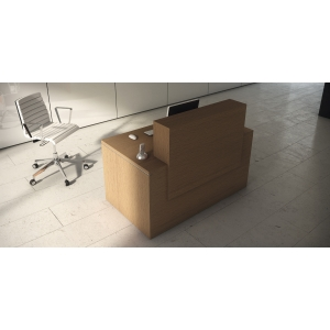 Mesa com mostrador para recepción color haya natural