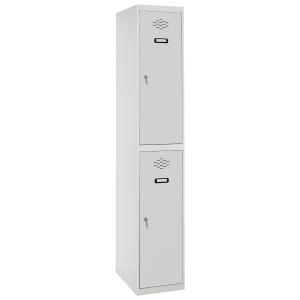 Taquilla montada LYRECO 2 compartimentos Dim: 800x1800x500 mm