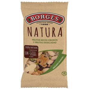Bolsa de snacks BORGES COCTEL NATURA con fruta 35g