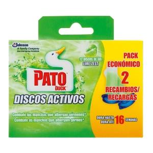 Pack de 2+2 PATO discos activos aroma lima
