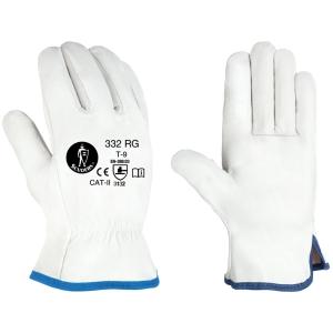 Caja de 12 pares de guantes de cuero Jomiba GTF 332 RG - talla 9