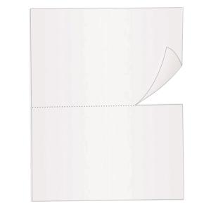 Caja de 2500 hojas de papel de recibos - 2 recibos - A4 - 80 g/m2