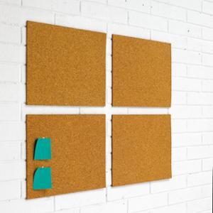 Pack de 4 placas de corcho autoadhesivas PLANNING SISPLAMO