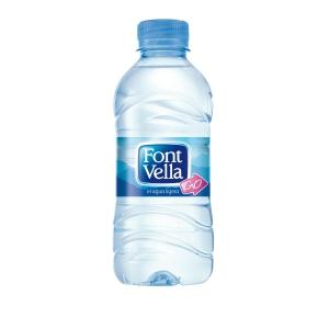 Pack de 35 botellas de agua Font Vella - 0,33 cl