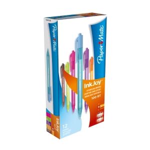 Pack de 12 bolígrafos de colores   Fun   Paper Mate Inkjoy 100 RT