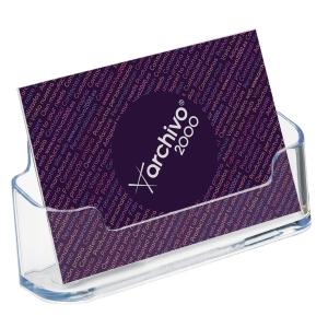 Expositor para tarjetas de visita Deflecto - 1 compartimento - transparente