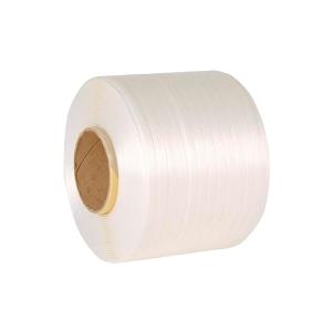 Pack de 2 fleje poliéster textil Hotmelt 19mmx600m blanco