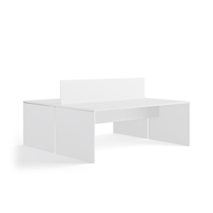 MESA DOBLE SKY HIGH 140X164CM COLOR BLANCO/BLANCO
