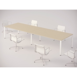 MESA DE REUNION OCEAN 200X120CM COLOR ROBLE/BLANCO