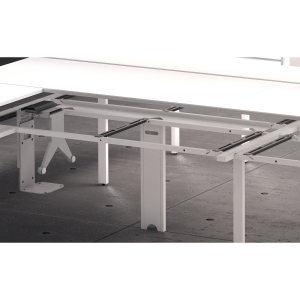 BANDEJA PASACABLES HORIZONTAL PARA MESA DOBLE OCEAN 140CM COLOR BLANCO