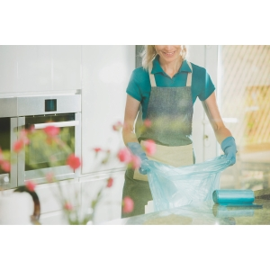 Rollo de 20 bolsas de basura domésticas - 30 L - 50 galgas - negro