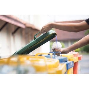 Rollo de 10 bolsas de basura industriales - 120 L - 120 galgas - negro