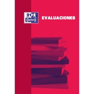BLOC DE EVALUACIÓN OXFORD T.BLANDA Fº 40H 4X4 ROJO