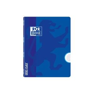 Libreta grapada OXFORD Openflex tapa plástico A5 48 hojas 4x4 - azul